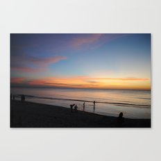 Playing in the sunset Canvas Print