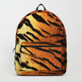 Realistic Tiger Skin Print Backpack
