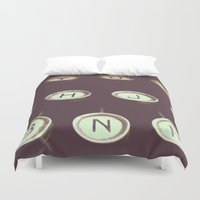 typewriter Duvet Covers featuring typewriter by stevee