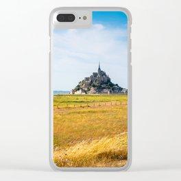 View of Mont Saint Michel against sky Clear iPhone Case