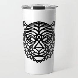 Tiger Head (Geometric) Travel Mug