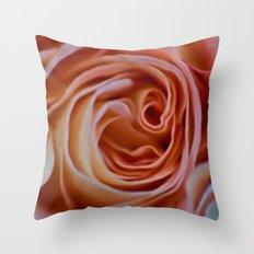 Peach perfection Throw Pillow
