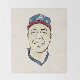 Hammerin' Hank Aaron Throw Blanket