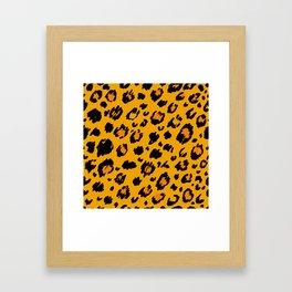 Cheetah skin pattern design Framed Art Print