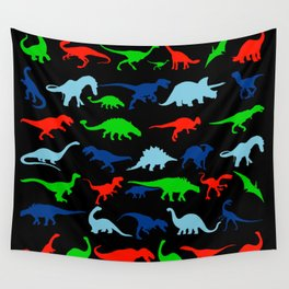 silhouettes of dinosaur pattern Wall Tapestry
