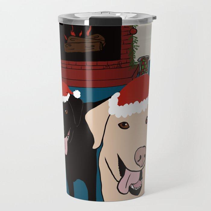 Labs Love Christmas! Travel Mug