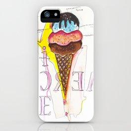 Birthday Cake Ice Cream Cone iPhone Case