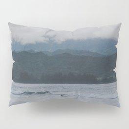 Lone Surfer - Hanalei Bay - Kauai, Hawaii Pillow Sham