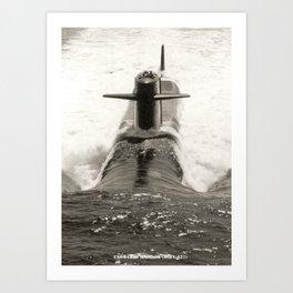 USS JAMES MADISON (SSBN-627) Art Print