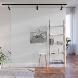 CHILDREN'S RACE | Inkdrawing by Alison Wall Mural