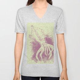 Purple squid ink Unisex V-Neck