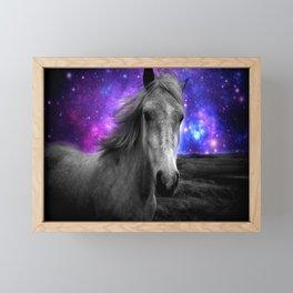 Horse Rides & Galaxy Skies Framed Mini Art Print