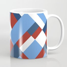 Map 45 Red White and Blue Coffee Mug