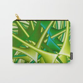 chaotic green Carry-All Pouch