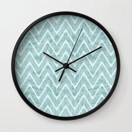 Palest Sea Green Zigzag Imitation Terrycloth Wall Clock