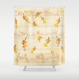 Autumn Leaves in Watercolor Shower Curtain