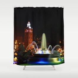 JC Nichols Memorial Fountain Shower Curtain