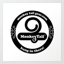 Monkey Tail Gear Logo - 002 Black Art Print