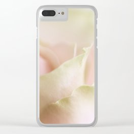 Pale pink macro rose Clear iPhone Case