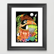 Toucan Fantasy Art Design Framed Art Print