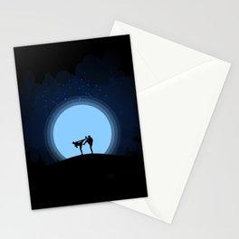 Night fight Stationery Cards
