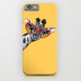 Hipster Giraffe with Glasses iPhone Case