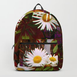 Train Track Flowers Backpack