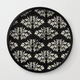 Foliage Black Wall Clock