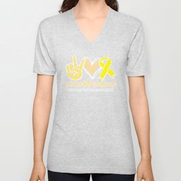 Peace Love and Cure Endometriosis Awarenesss Womens Health Unisex V-Neck