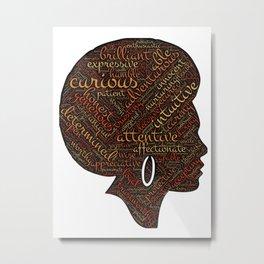 afro american Metal Print