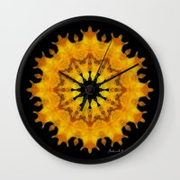 shiva Wall Clocks featuring Mandala Shiva by Digital Mandalas