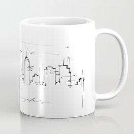 DTLA (downtown Los Angeles) Skyline Sketch minimal Coffee Mug