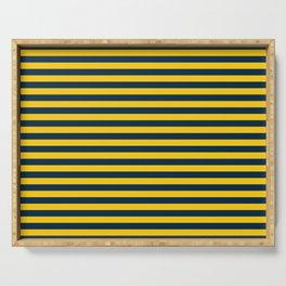 Michigan Team Colors Stripes Serving Tray