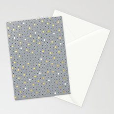Pin Points Grey, Gold and White Stationery Cards