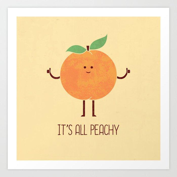 All Peachy Art Print