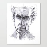 dr who Canvas Prints featuring Dr Who by Vimes