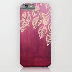 Magenta Garden - watercolor & ink leaves iPhone 6 Slim Case