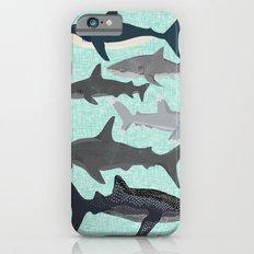 Sharks nature animal illustration texture print marine biologist sea life ocean Andrea Lauren Slim Case iPhone 6