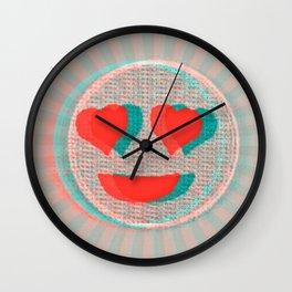 Heart Emoji Wall Clock