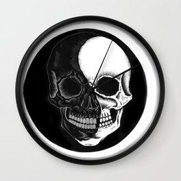 Eclipsed Skull Wall Clock