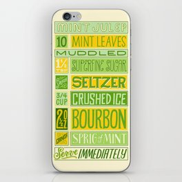 Mint Julep iPhone Skin