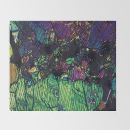 Pyroxene Crystals Throw Blanket