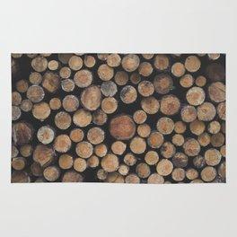 Wooden background Rug