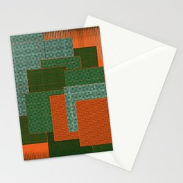 Orange Color Geometry Stationery Cards