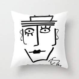 Faire Visage No 28 Throw Pillow