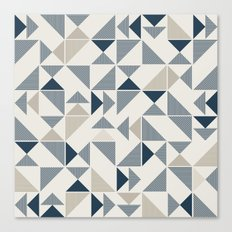 Geometric Mosaic Triangle Pattern Canvas Print