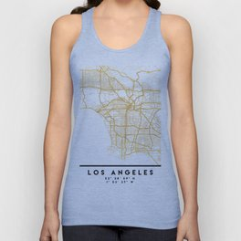 LOS ANGELES CALIFORNIA CITY STREET MAP ART Unisex Tank Top