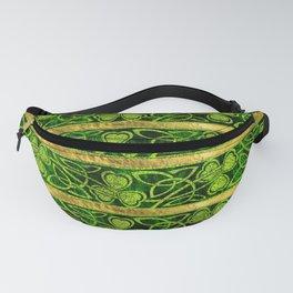 Irish Shamrock -Clover Gold and Green pattern Fanny Pack