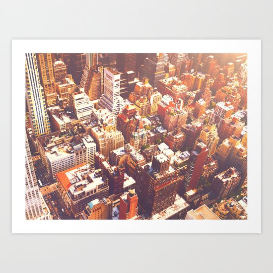 New York City Skyline Summer Art Print