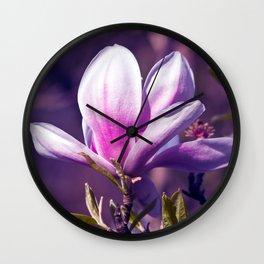 Ultra Violet Magnolia Wall Clock